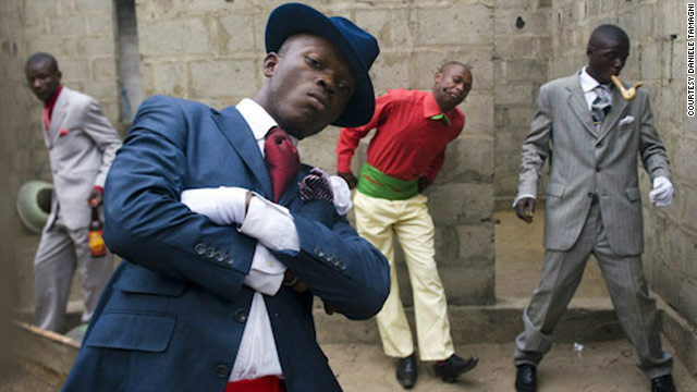 "Daniele Tamagni photographed the Congo's ""Sapeurs"" for his book 'Gentlemen of Bacongo."""