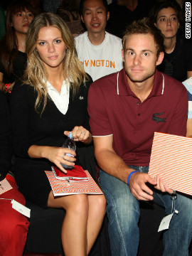 Former world No. 1 Andy Roddick famously began dating Brooklyn Decker in 2007 after asking his agent to track down a phone number for the Sports Illustrated model. They were married in 2009 at a ceremony that included Agassi and Graf as guests.