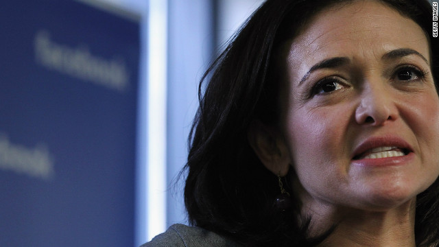 Facebook's CFO Sheryl Sandberg speaks in New York.