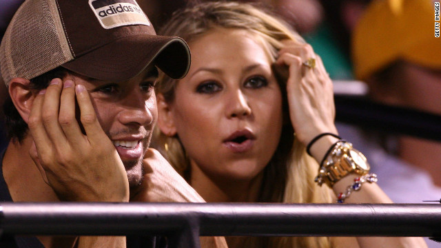 The courtship of former world No. 8 Kournikova and pop star Iglesias was the very definition of a high-profile romance when they started dating in 2001. The Russian appeared in the video for Iglesias' song &quot;Escape,&quot; causing a media frenzy. They are still together, 10 years on.