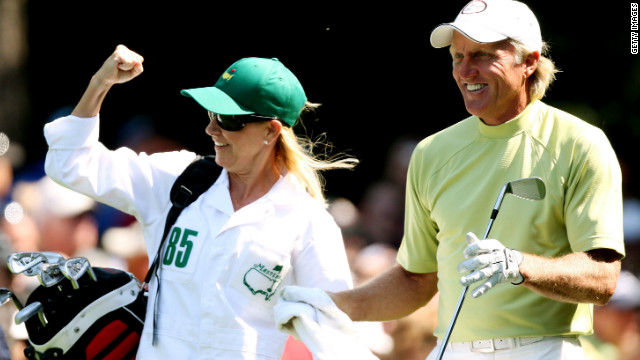 "A third entry to the list for Evert, whose romance and susbsequent marriage to Australian golfer Greg Norman -- known as the ""The Great White Shark"" -- captured headlines in 1998. Evert even caddied for the two-time British Open winner at the Masters during a par-three tournament. The couple split 15 months after their wedding."