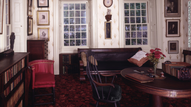 For a literary excursion, visit the Concord Museum, where the contents of Ralph Waldo Emerson's study are exhibited.
