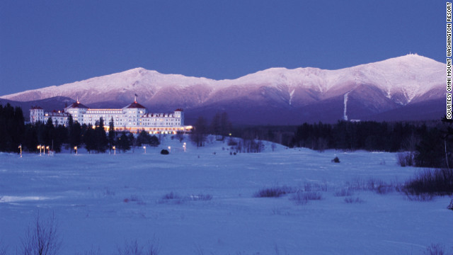 The Omni Mount Washington Resort is an elegant aprs-ski option in Bretton Woods, New Hampshire.
