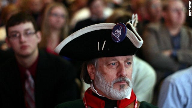 Tea party activist William Temple attends the Conservative Political Action Conference in Washington.