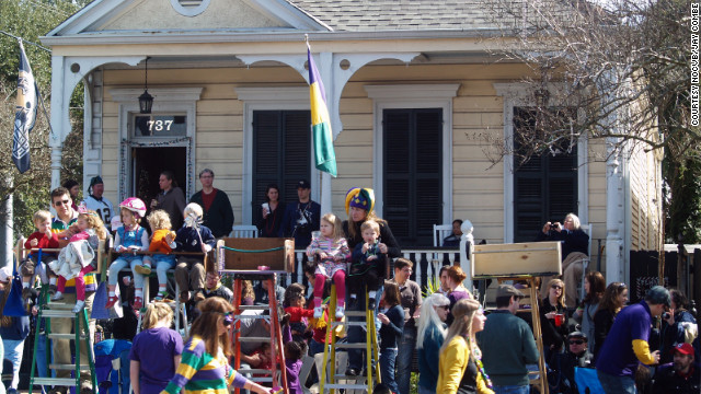 The Mardi Gras season is a family celebration. Ladder seating provides kids with clear views of the parades rolling by.