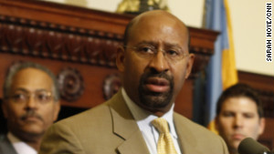 Philadelphia Mayor Michael Nutter has been outspoken against criminals, calling them \