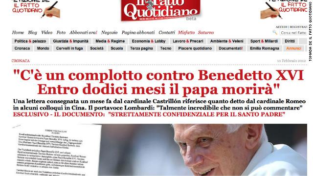 ¿Un complot para asesinar al papa Benedicto XVI?