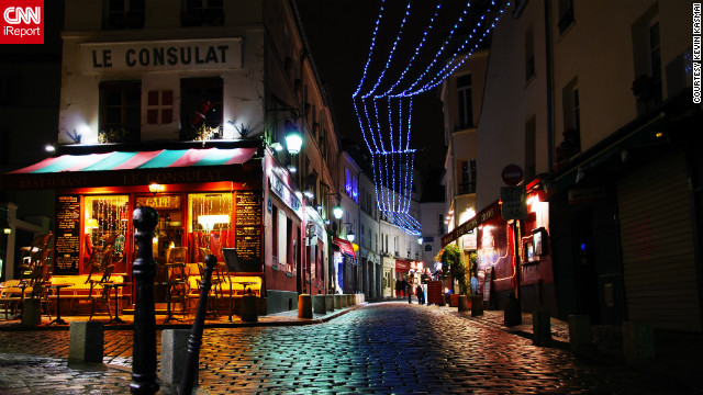 &quot;The Montmartre neighborhood has nurtured many French artists over the past century and is now a big tourist destination with many night clubs, stores and restaurants,&quot; Kevin Kasmai said of his photo. &quot;In this photo, it is lit up for Christmas.&quot;