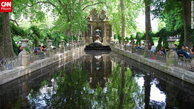 "Lisa Homstad shared this photo of the Medici fountain in the Jardin du Luxembourg. ""I came home from Paris wanting to put flowers in all of my windows. Between that, the trees and beautiful buildings, it felt like a garden-village that just went on and on."""