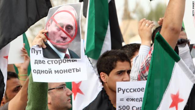 Sirios se toman las calles para protestar contra Rusia