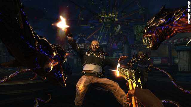 In the Darkness II, players get to fight with characters who have four arms.