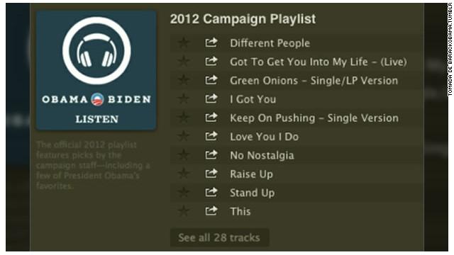 Obama publica sus canciones favoritas en Spotify