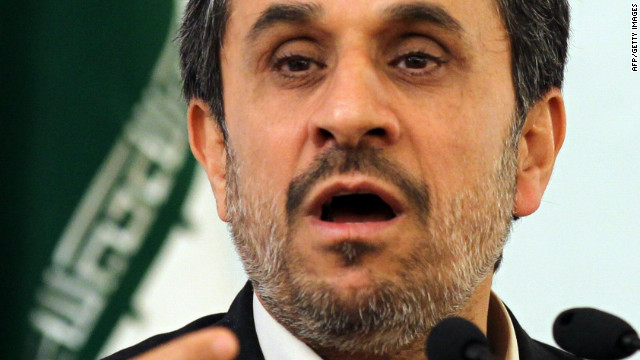 Iranian President Mahmoud Ahmadinejad at the 25th International Islamic Unity Conference in Tehran on February 8, 2012