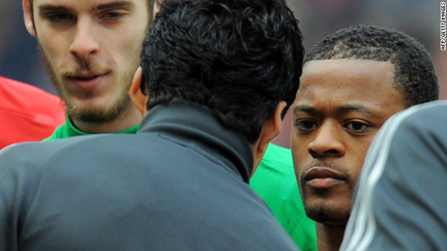 Suarez and Evra failed to shake hands before the start of an English Premier League game at Old Trafford last season after the Uruguayan had served his ban. However, when United beat Liverpool 2-1 at Anfield in September, the pair did shake hands.