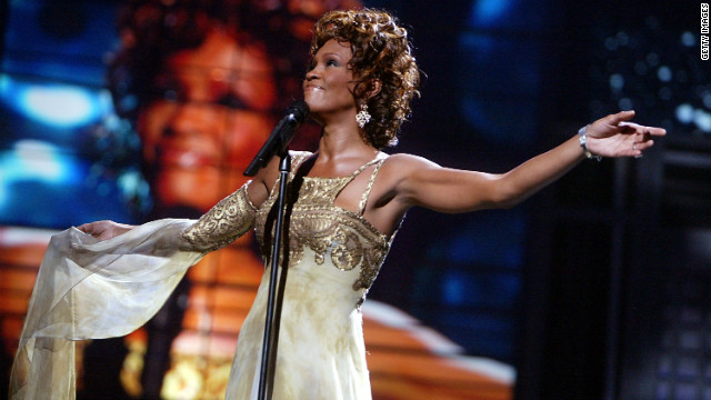 Singer Whitney Houston is seen performing on stage during the 2004 World Music Awards on September 15, 2004 in Las Vegas.