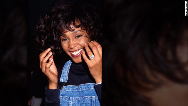 <br/>Whitney Houston flashes her radiant smile in January 1991.