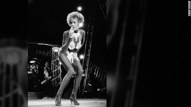 <br/>Whitney Houston performs in July 1991.