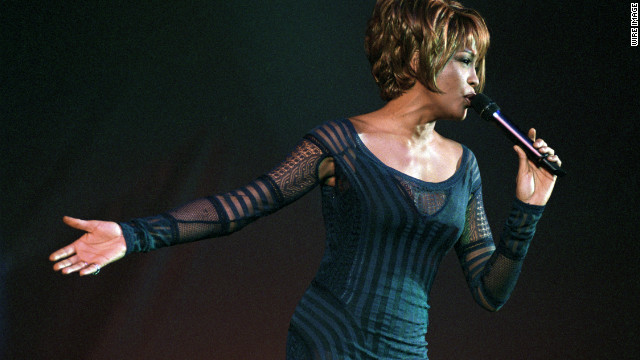 Houston performs during an AmFar Benefit Concert in New York City in December 1998.