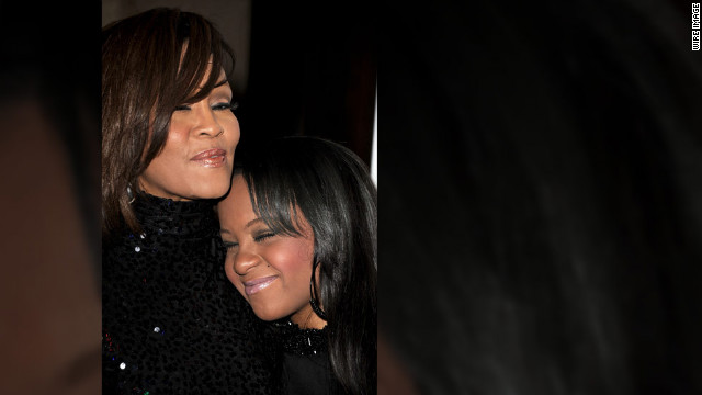 Houston and her daughter, Bobbi Kristina Brown, arrive at a gala event honoring David Geffen at the Beverly Hilton Hotel in February 2011.