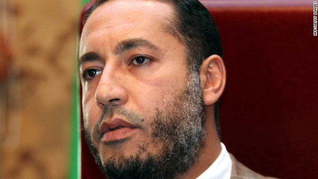 Saadi Gadhafi, pictured in January 2010, is under a travel ban. 