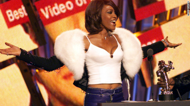 Houston performs at the MTV Music Video Awards in 2000 at Radio City Music Hall in New York. 