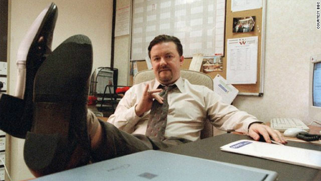 Ricky Gervais plays inept boss David Brent in the British version of TV show