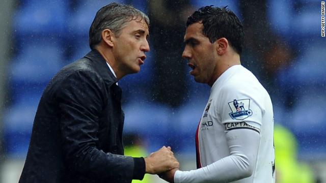 Mancini abre la puerta para que regrese Tevez al Manchester City