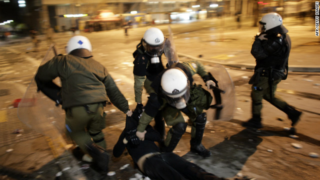 Greece Protests Extra Horizontal Gallery Police Arrest Freedom Area Head