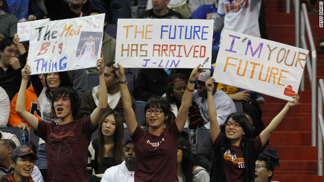 The rise of Lin has attracted new fans to the NBA, with one female fan expressing her commitment to the record-breaking pointguard.