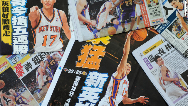 Jeremy Lin is the first U.S.-born NBA player of Chinese or Taiwanese descent, and his rise to stardom has received huge international media coverage.