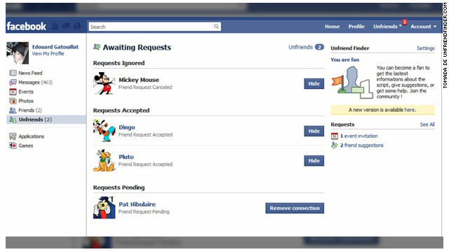 """Descubre con """"Unfriend Finder"""" quiénes no quisieron ser tus amigos en Facebook"""