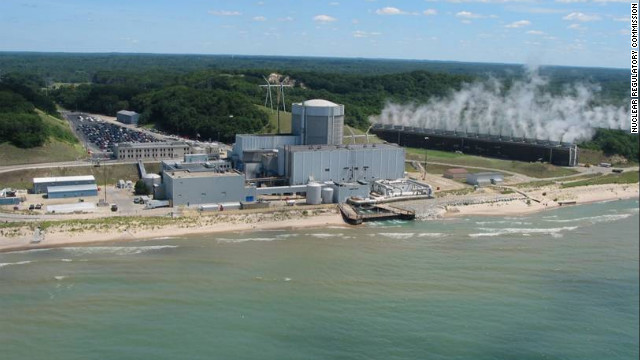 The Palisades nuclear power plant stands on the shore of Lake Michigan in Covert, Michigan.