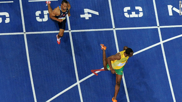 Bolt left Gay trailing in second place at the 2009 World Athletics Championships in Berlin when the Jamaican set a new world record of 9.58 seconds for the 100m.