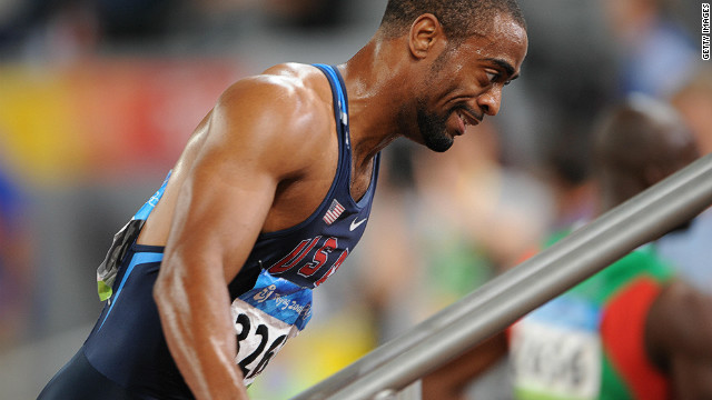 Gay broke Maurice Greene's U.S. record for the 100m during the American trials for the 2008 Olympics, but a hamstring injury picked up later during the trials in the 200m dented his prospects in Beijing -- where he failed to reach the final of the shorter event.