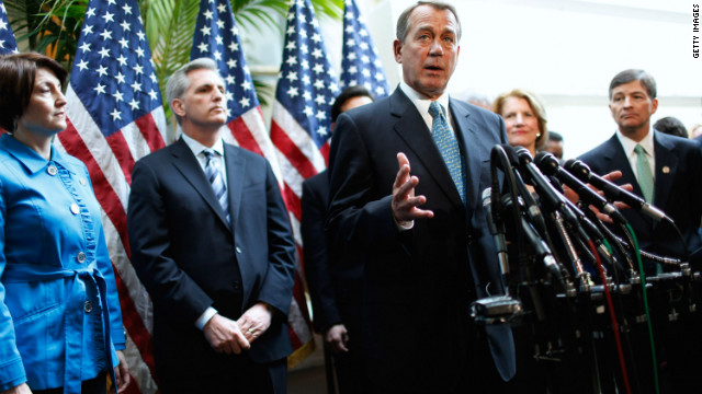 House Speaker Joehn Boehner says the president is