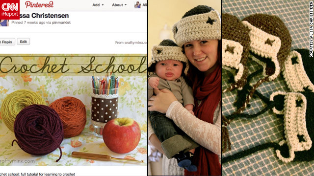 After learning to crochet via a tutorial she found through Pinterest, Christensen made these <a href='http://ireport.cnn.com/docs/DOC-743625'>hats for her baby</a> and all the other young boys in her extended family.