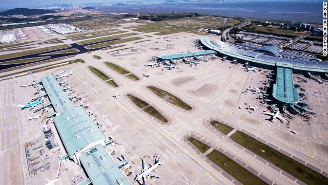 South Korea's sprawling Incheon International Airport came in second place in the best airport category for the second year in a row. It also won for best immigration experience and best transit.