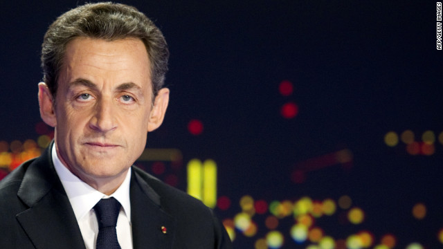 French President Nicolas Sarkozy announces his re-election bid Wednesday on French TV channel TF1.