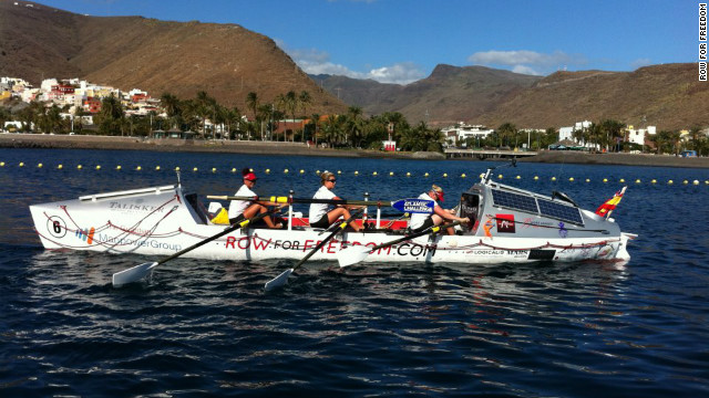 The Row for Freedom team broke the Atlantic crossing record last month with crew members going naked for most of the journey. The unconventional tactic helped them counter the boils and sores that can result when clothes rub against skin. 