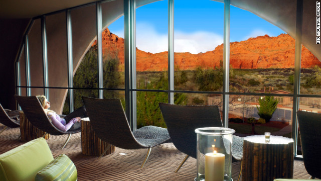 Relax and enjoy the view from the Sagestone Spa lounge at the Red Mountain Resort.