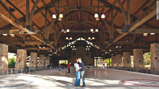 Ice skating is included in the Mohonk Mountain House package.