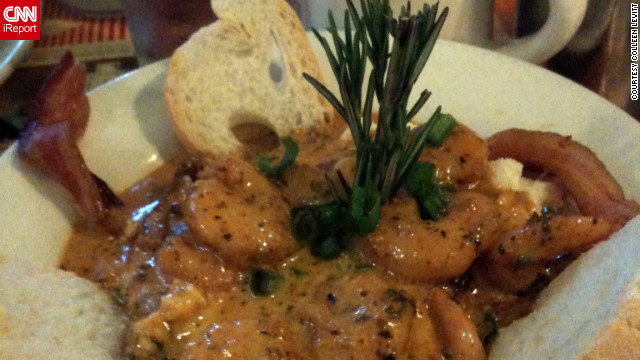 iReporter Colleen Levitt of Royal Oak, Michigan, says the shrimp and grits at Surrey's Caf &amp;amp; Juice Bar are the best in New Orleans.