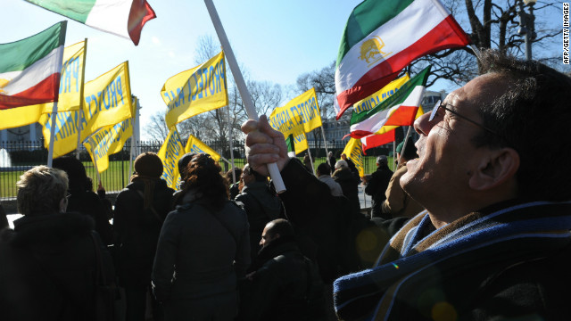 A demonstration in front of the White House in Washington on December 10, 2011 to demand the protection of Camp Ashraf.