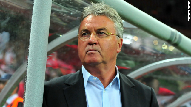 Veteran Dutch coach Guus Hiddink is back in club football with Russian club Anzhi Makhachkala