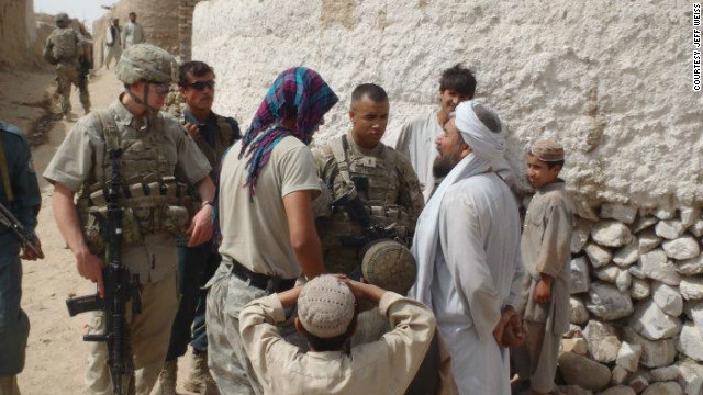 A U.S. platoon leader inquires about a mullah's name ahead of a key meeting with local leaders.