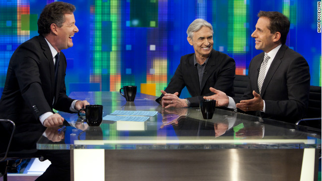 Steve Carell (right) and David Steinberg are guests on Monday's