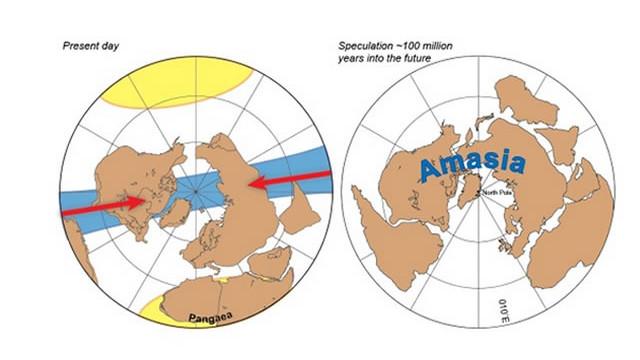 """América y Asia podrían unirse en 200 millones de años y formar """"Amasia"""""""
