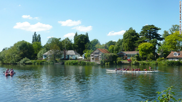 The house will be constructed on an island on the River Thames in the town of Marlow, 35 miles west of the UK capital.