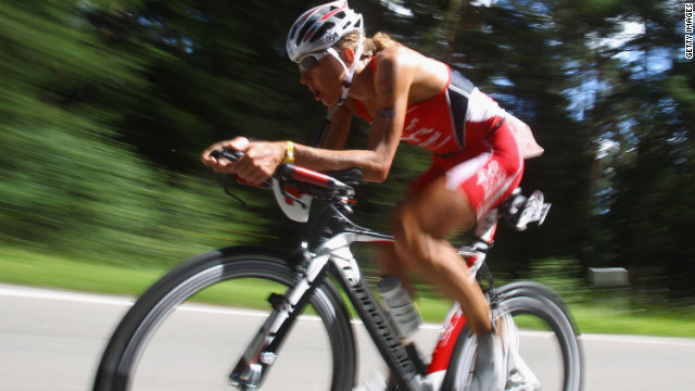 Chrissie Wellington competes during the Challenge Roth triathlon in July in Roth, Germany.
