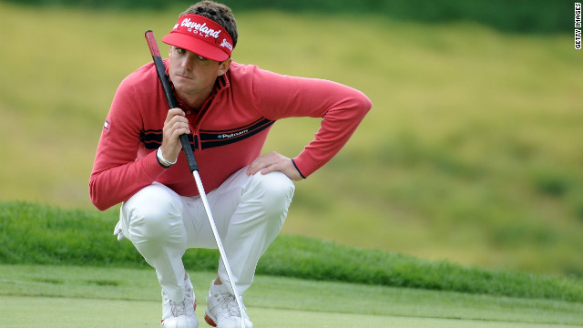 Keegan Bradley's pre-swing spitting has created a social-media storm on Twitter and Facebook.